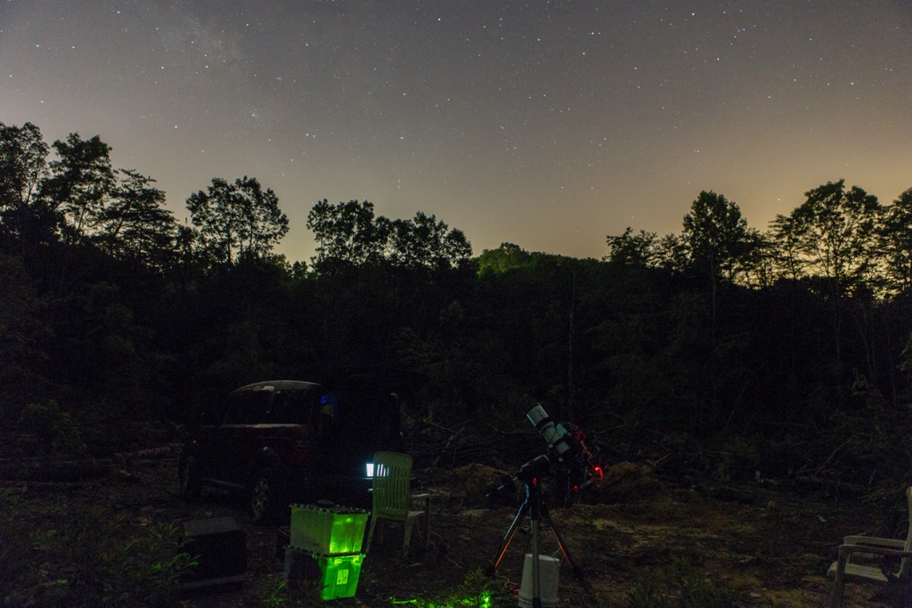 First Light for the new observatory site at our new Tennessee Homestead.