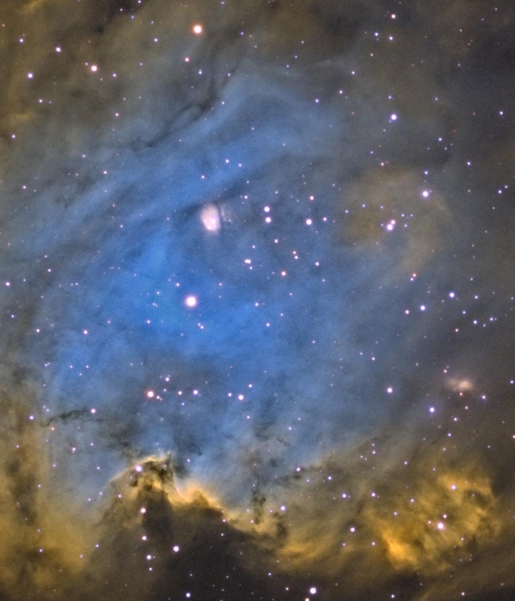 NGC 2175 AP130EDT w/ 0.75X Reducer (f/6.3) Apogee Ascent A694 CCD Baader Narrowband Filters 7x20min Ha 10x20min O[III] 9x20min S[II]