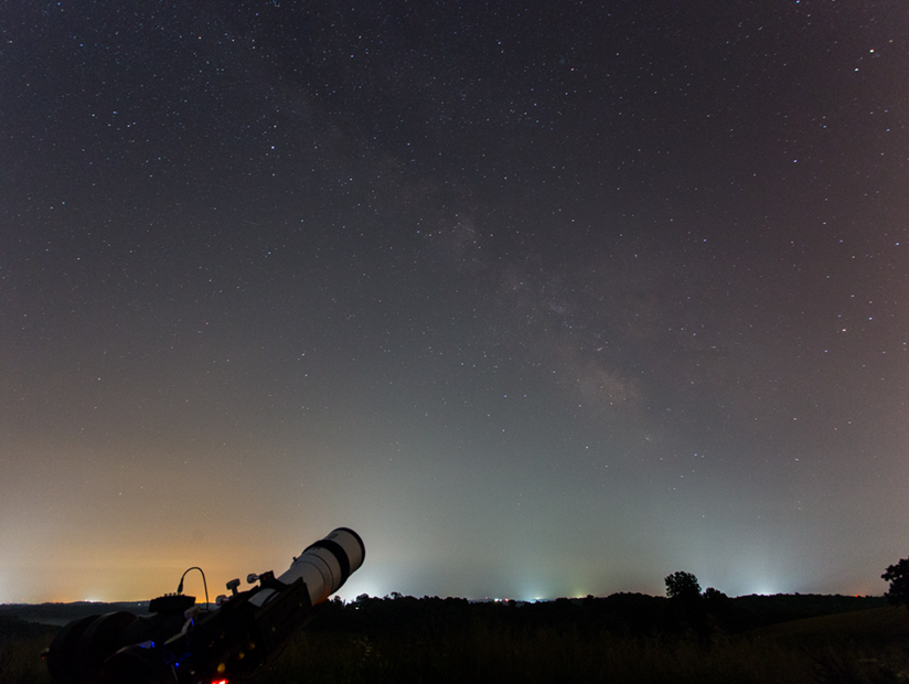 Imaging M20 through the light pollution.