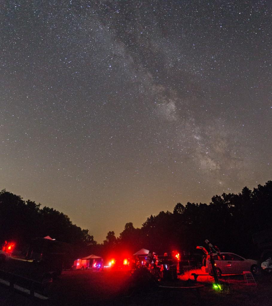 Fall Creek Falls Milkyway Pano Canon 6D, 17-40mm @ 17mm f/4, 20sec