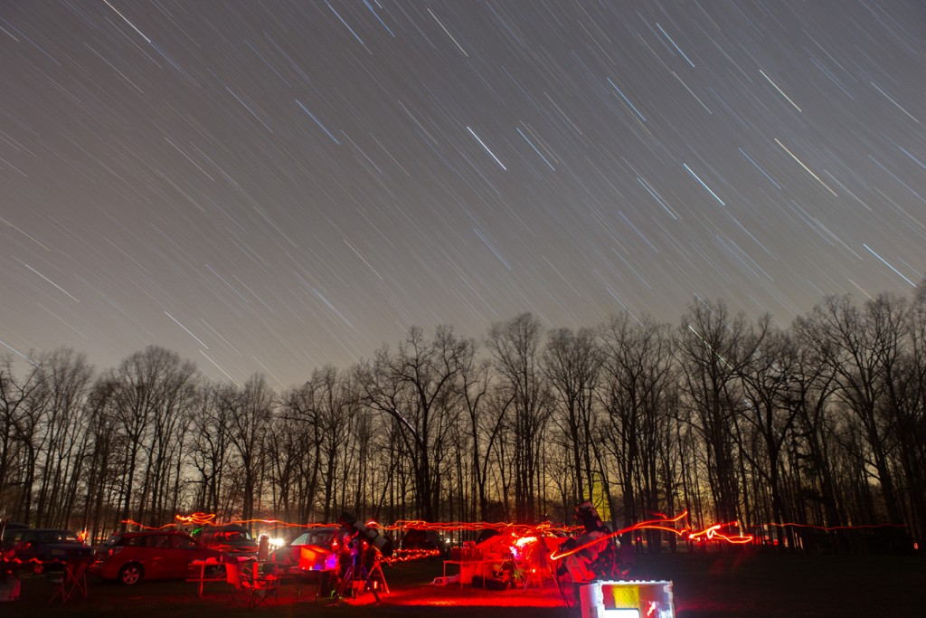Star Trails over the astronomy field