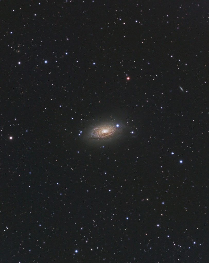 M63 - AP900GTO, Stellarvue SVQ-100, Apogee Ascent A694, Baader LRGB Filters, 4.5 Hour Total Exposure TIme.